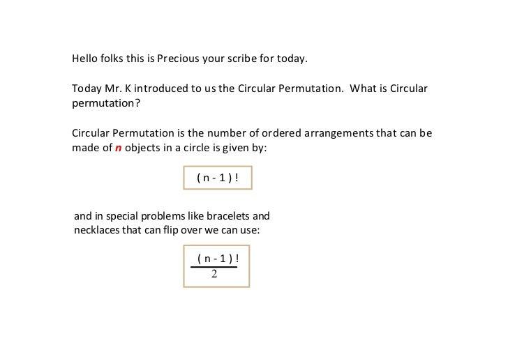 Circular Permutation Slide 2