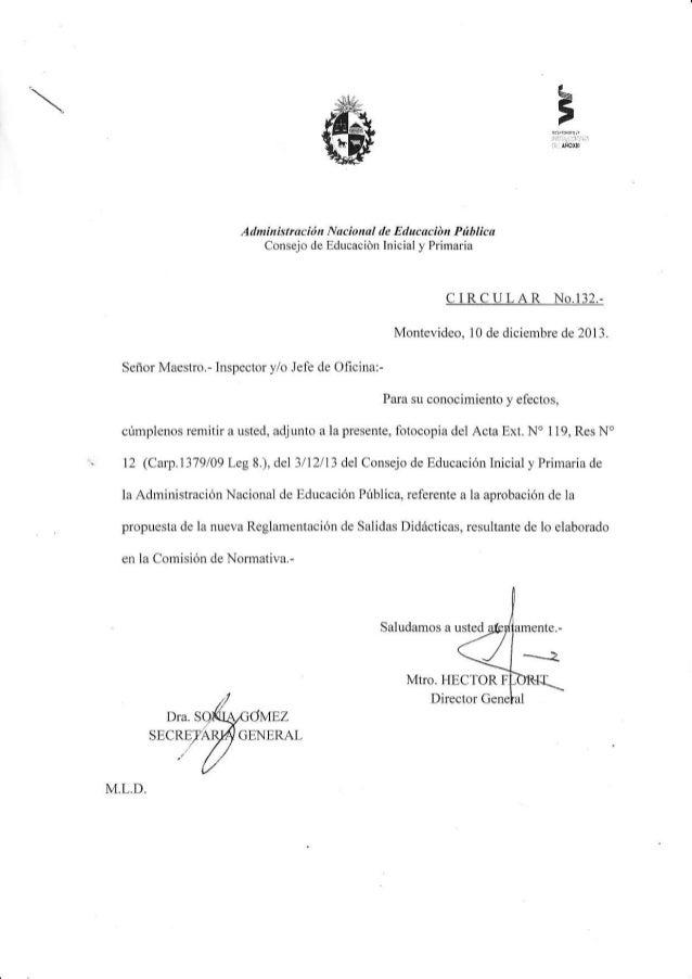 L' , +'if¿,.,  Administració Nacional  de  Educaciót Pítblica  Consejo de fducación lnicial y Primaria  CIRCULAR  No.132.-...