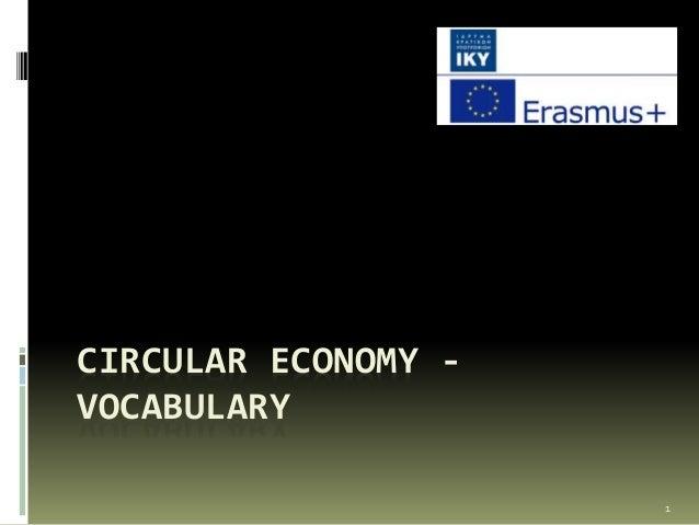 CIRCULAR ECONOMY - VOCABULARY 1