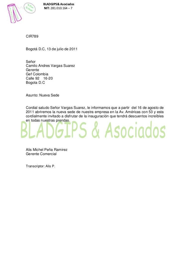 BLADGIPS& Asociados            NIT: 281.010.164 – 7CIR789Bogotá D.C, 13 de julio de 2011SeñorCamilo Andres Vargas SuarezGe...