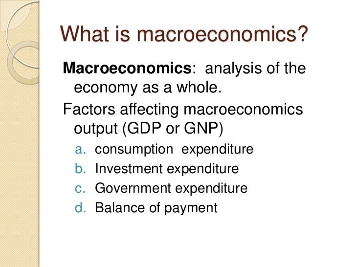 macroeconomic variables to determine the macroeconomic Macroeconomic indicators and financial variables pp7  this study will attempt  to determine a revenue-forecasting model by utilizing.