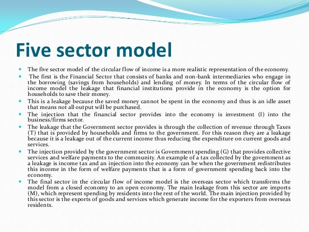 An introduction to the five sector circular flow of income