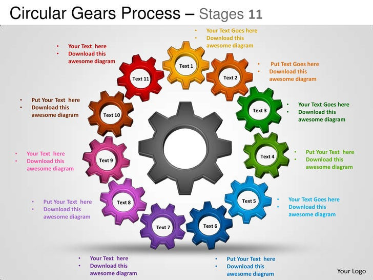 Circular gears process stages 11 powerpoint templates powerpoint templates circular gears process stages 11 maxwellsz