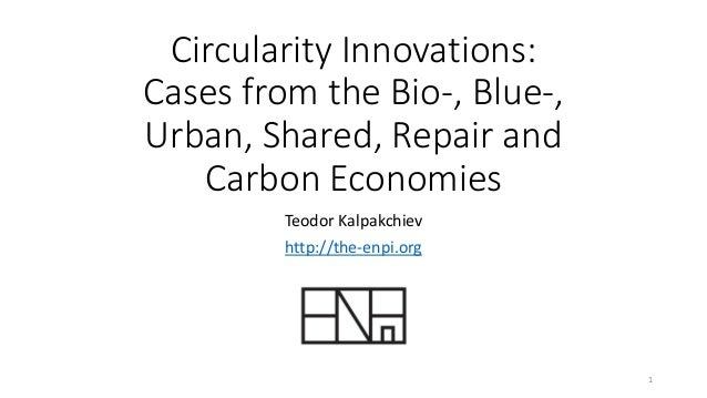 Circularity Innovations: Cases from the Bio-, Blue-, Urban, Shared, Repair and Carbon Economies Teodor Kalpakchiev http://...