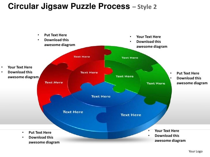 circular jigsaw puzzle process style 2 powerpoint templates. Black Bedroom Furniture Sets. Home Design Ideas
