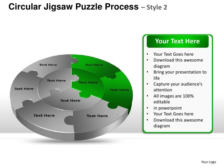 Template 3 Circular Jigsaw Puzzle