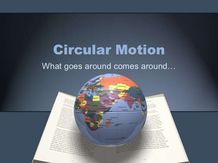 Circular Motion<br />What goes around comes around…<br />