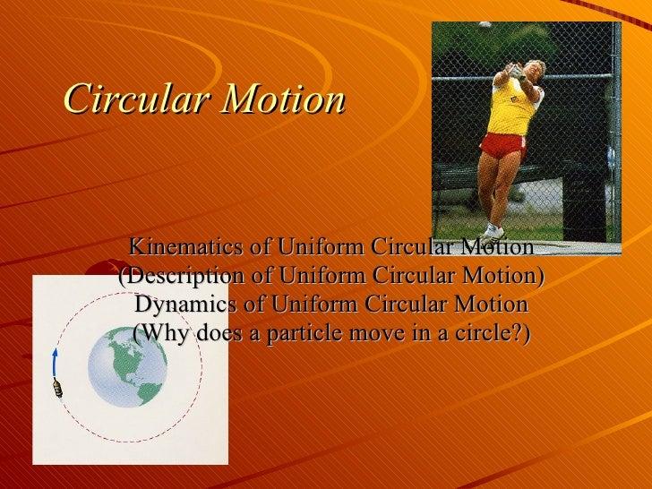 Circular Motion Kinematics of Uniform Circular Motion (Description of Uniform Circular Motion) Dynamics of Uniform Circula...