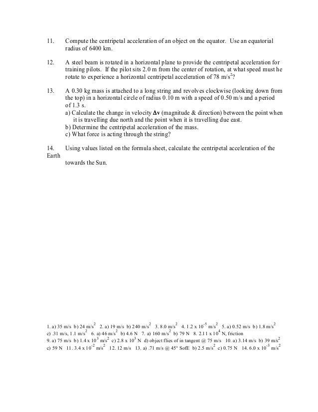 Circular motion ws1 – Circular Motion Worksheet
