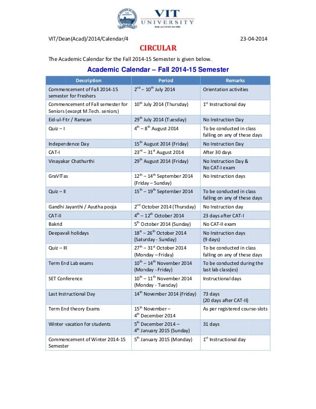 Semester Calendar Template Selol Ink