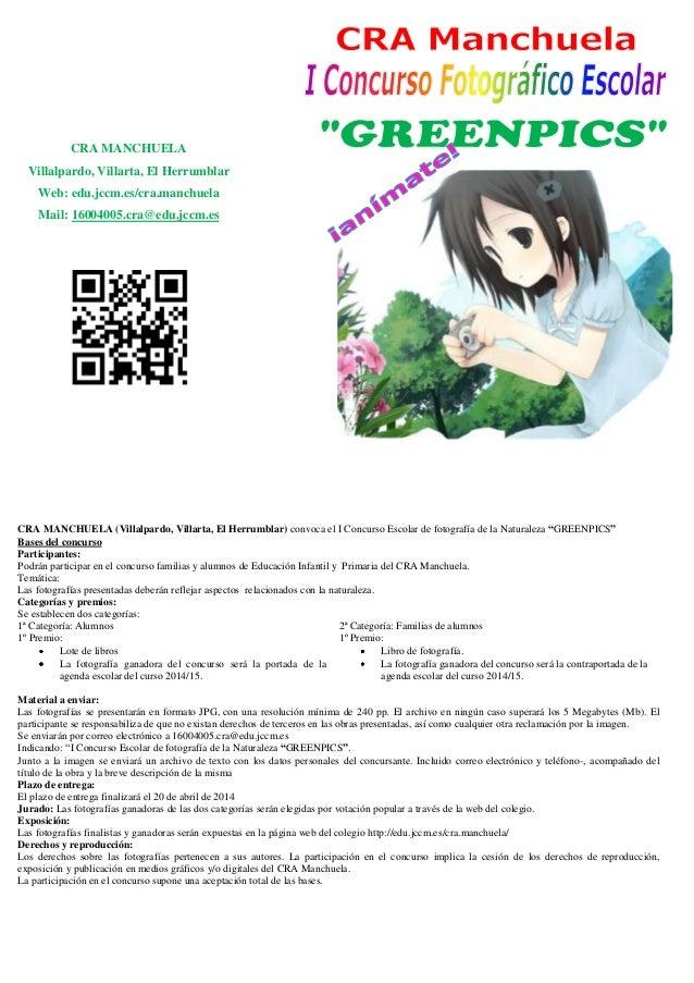 CRA MANCHUELA Villalpardo, Villarta, El Herrumblar Web: edu.jccm.es/cra.manchuela Mail: 16004005.cra@edu.jccm.es CRA MANCH...
