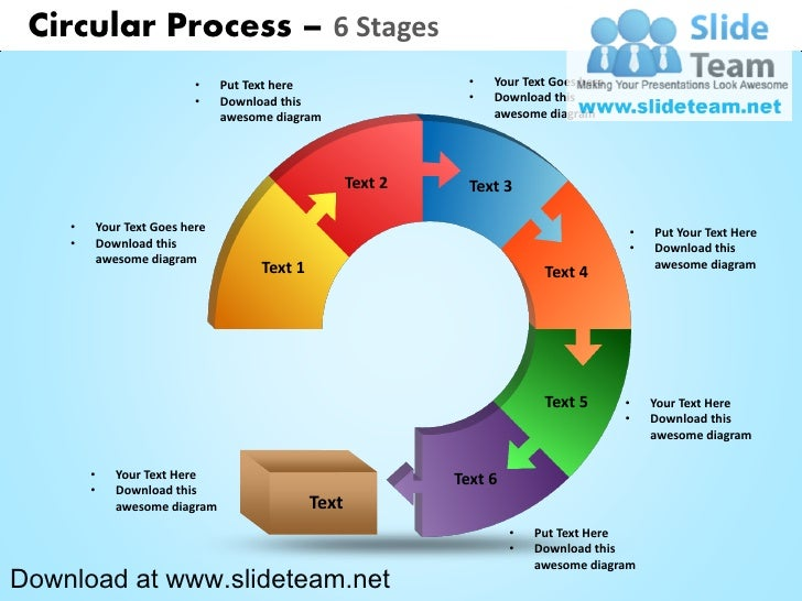 Circular Process 6 Stages Powerpoint Diagrams And Powerpoint