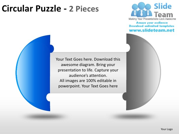 Circular Puzzle 2 And 3 Pieces Powerpoint Presentation Slides Ppt Tem
