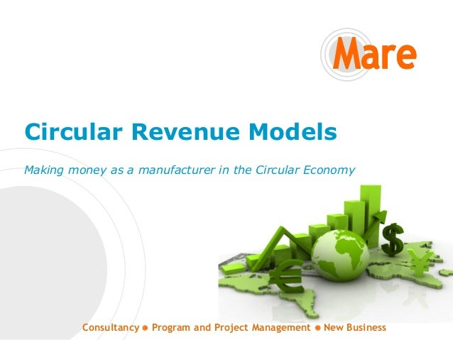 Consultancy Program and Project Management New Business Circular Revenue Models Making money as a manufacturer in the Circ...