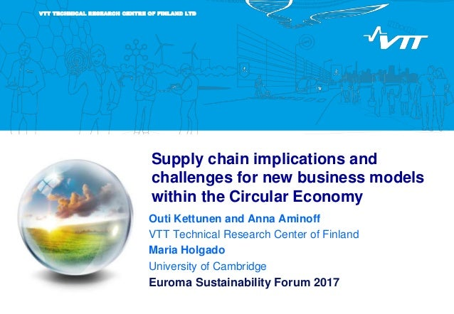 VTT TECHNICAL RESEARCH CENTRE OF FINLAND LTD Supply chain implications and challenges for new business models within the C...