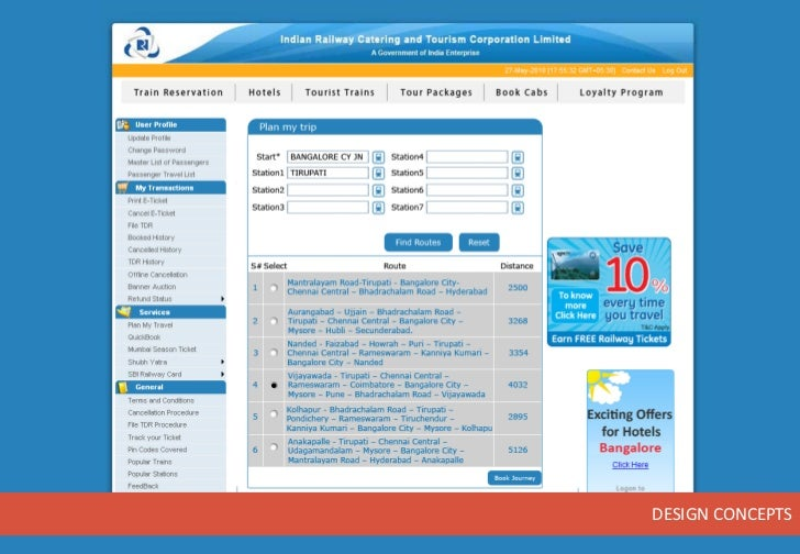 Circular Ticket Booking Application Concepts