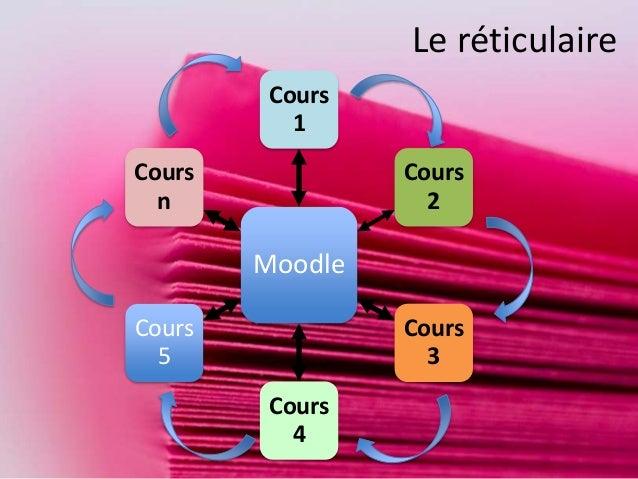 Moodle Cours 1 Cours 2 Cours 3 Cours 4 Cours 5 Cours n Le réticulaire