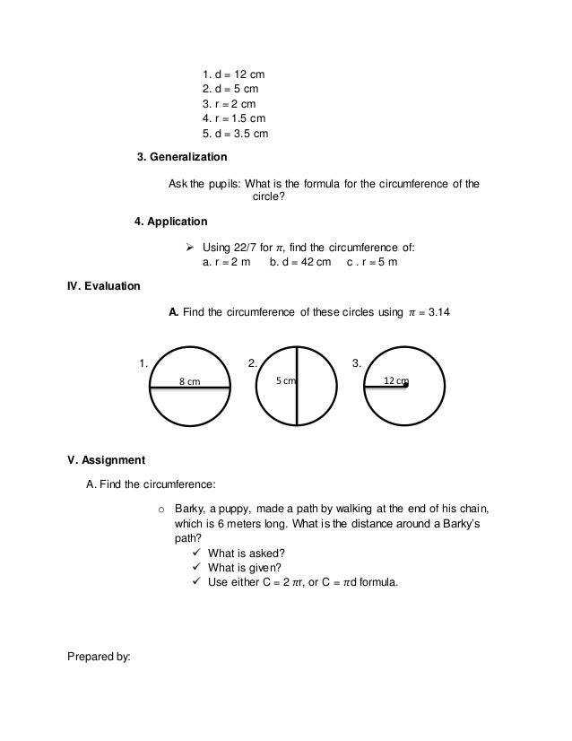 how to know circumference of a circle
