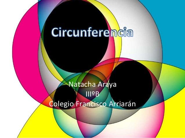 Natacha Araya IIIºB Colegio Francisco Arriarán