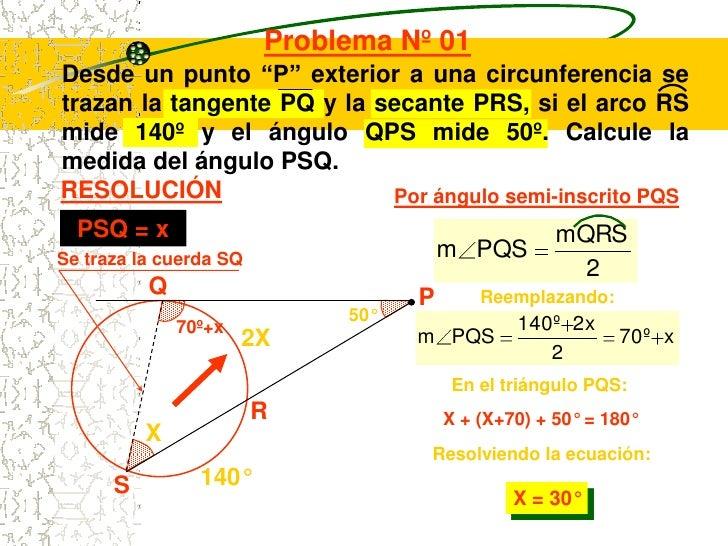 Circunferencia y sus elementos for Exterior a la circunferencia