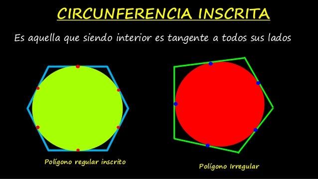 Circunferencia inscrita y circunscrita for Que es exterior y interior