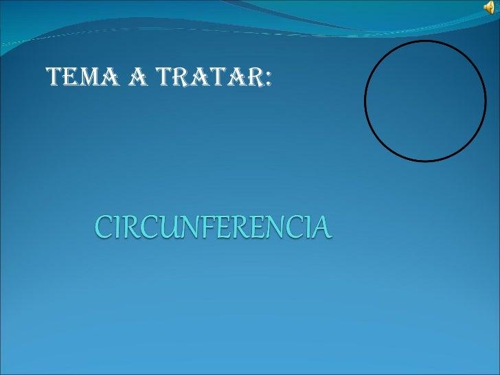 TEMA A TRATAR: