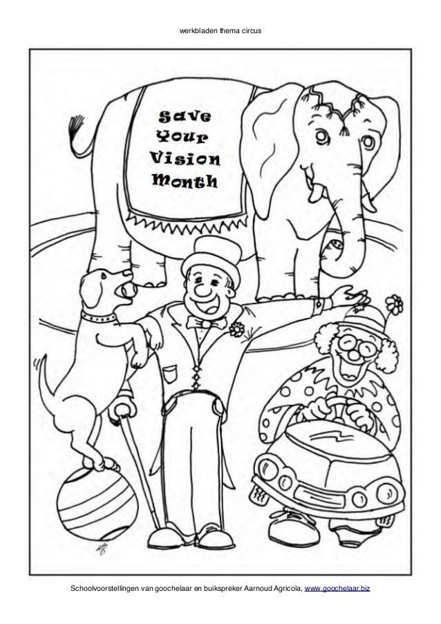 Kleurplaten Circuspaarden.Circus Op School Werkboek Van Basisschool Goochelaar Aarnoud Agricola