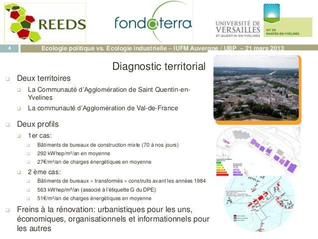  Deux territoires  La Communauté d'Agglomération de Saint Quentin-en- Yvelines  La communauté d'Agglomération de Val-de...