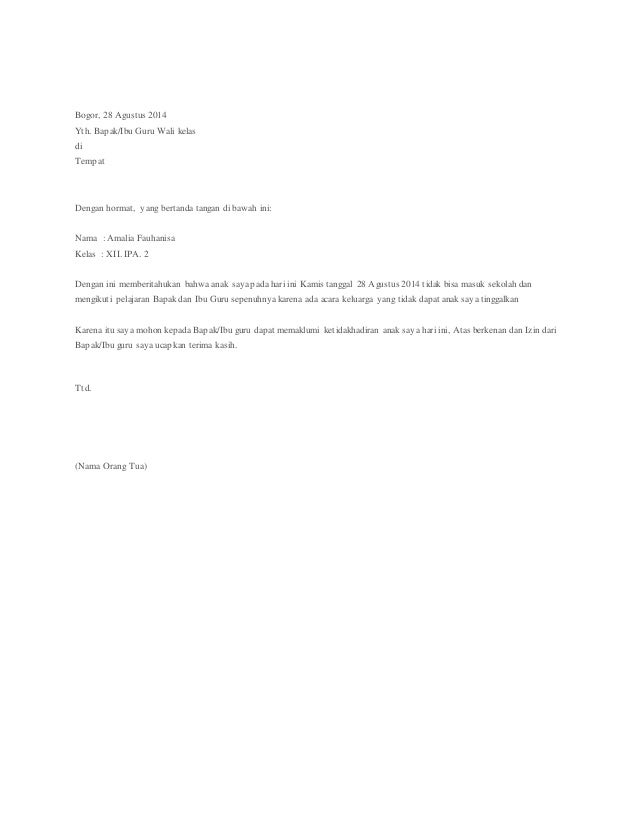 Ciri Ciri Surat Resmi