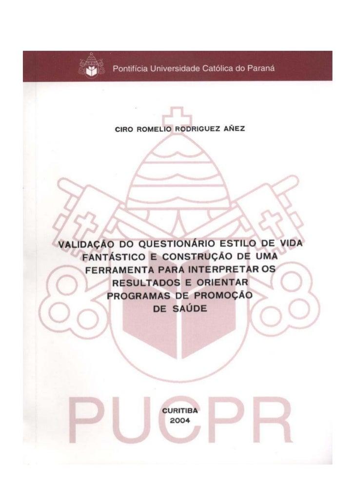 Pontifícia Universidade Católica do Paraná           Centro de Teologia e Ciências Humanas                  Curso de Educa...