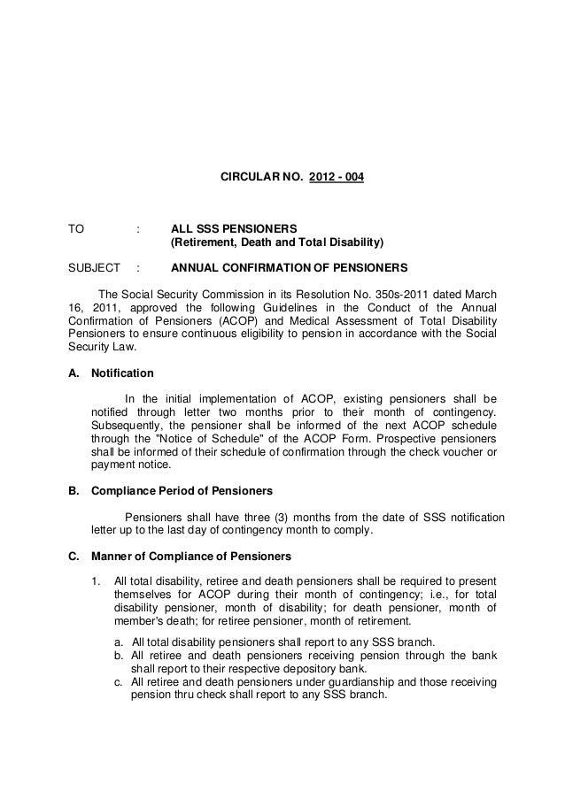 retirement notification letter
