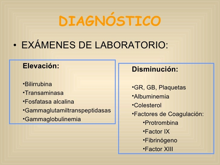 Diagnóstico de cirrosis