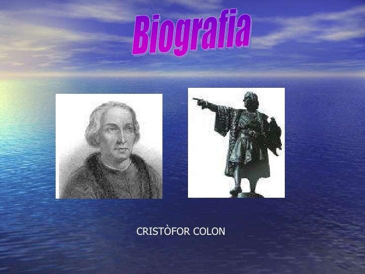 CRISTÒFOR COLON