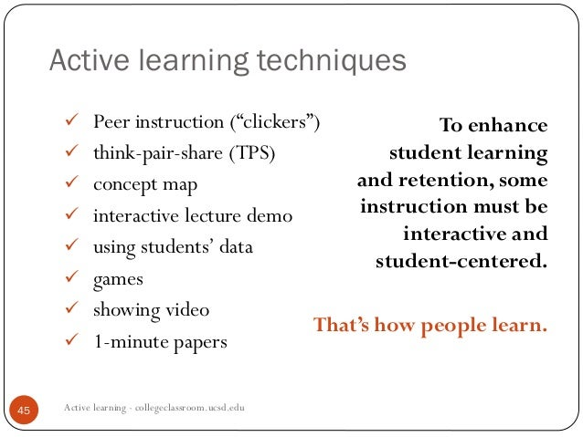 CIRTL Class Meeting 5: Active Learning