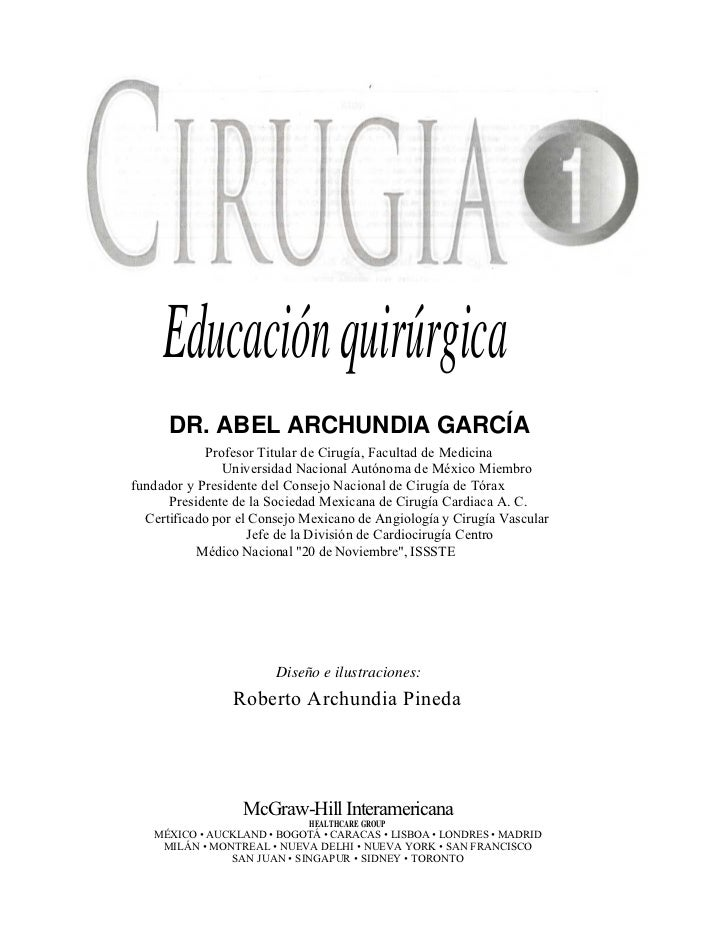 Cirugia 1: archundia libro