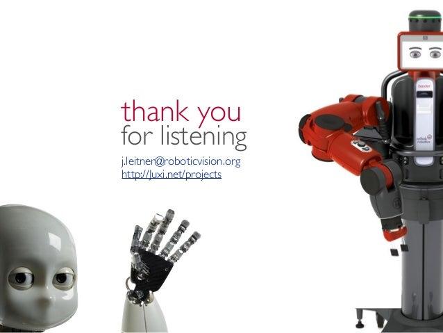 Robotic Vision Vision For Robotics Ieee Qld Cis Colloquium