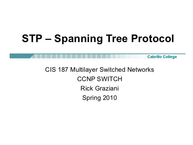 STP – Spanning Tree Protocol    CIS 187 Multilayer Switched Networks             CCNP SWITCH               Rick Graziani  ...