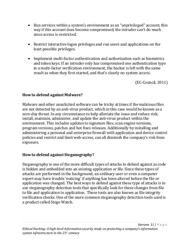 Ethical Hacking A high-level information security study on protectin…