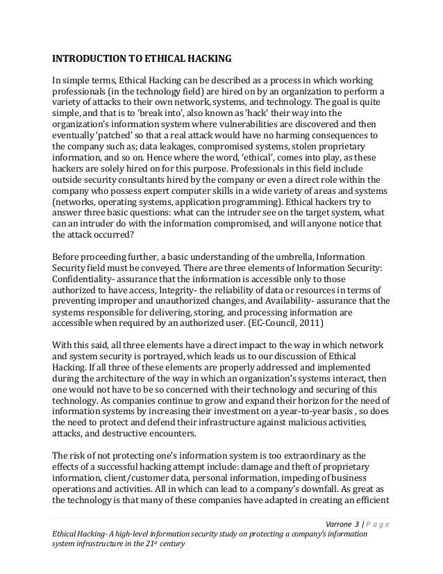 ethical hacking essay pdf