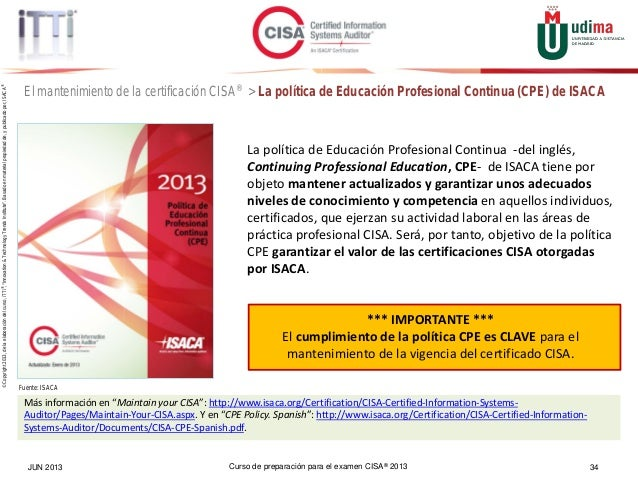 cisa online review course spanish espa ol intro rh es slideshare net manual de preparacion cisa