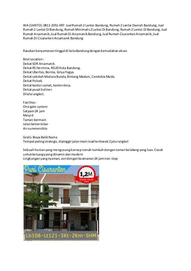 WA (SANTO):0811-2051-097 Jual Rumah2 Lantai Bandung,Rumah2 Lantai Daerah Bandung,Jual Rumah2 Lantai Di Bandung,Rumah Minim...