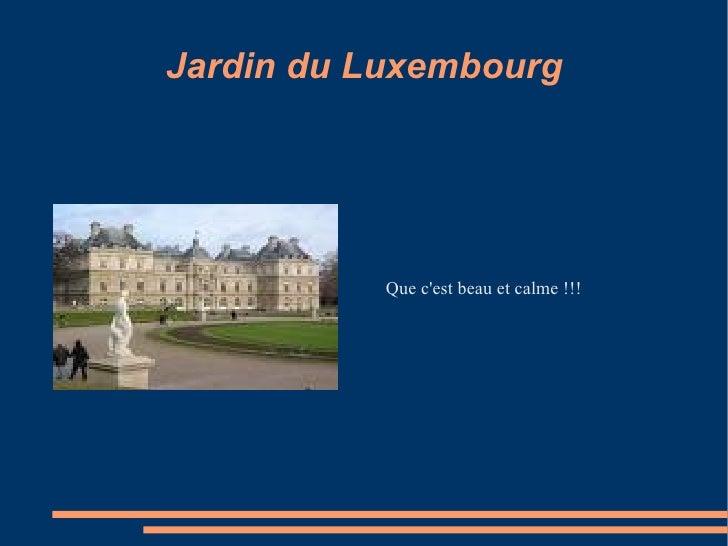 Paris toujours for Jardin du luxembourg hours