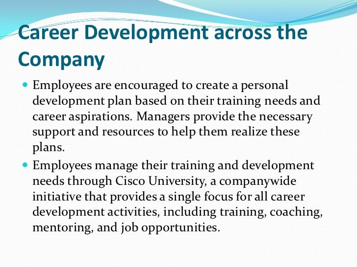 Cisco career development – Personal Career Development Plan Template