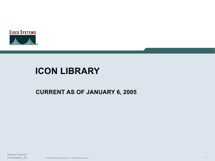ICON LIBRARY CURRENT AS OF JANUARY 6, 2005