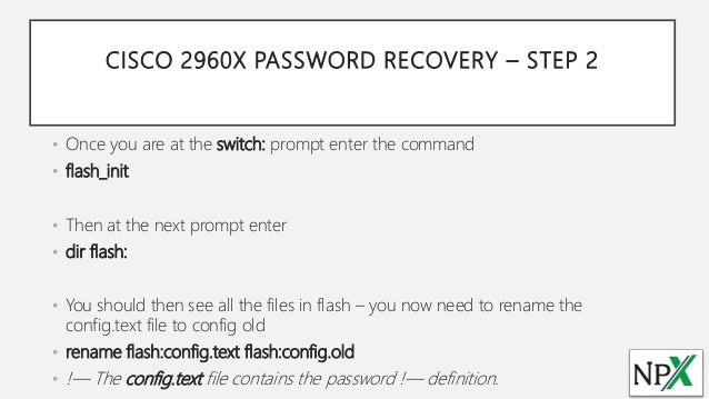 Default Username And Password For Cisco 2960 Switches How to