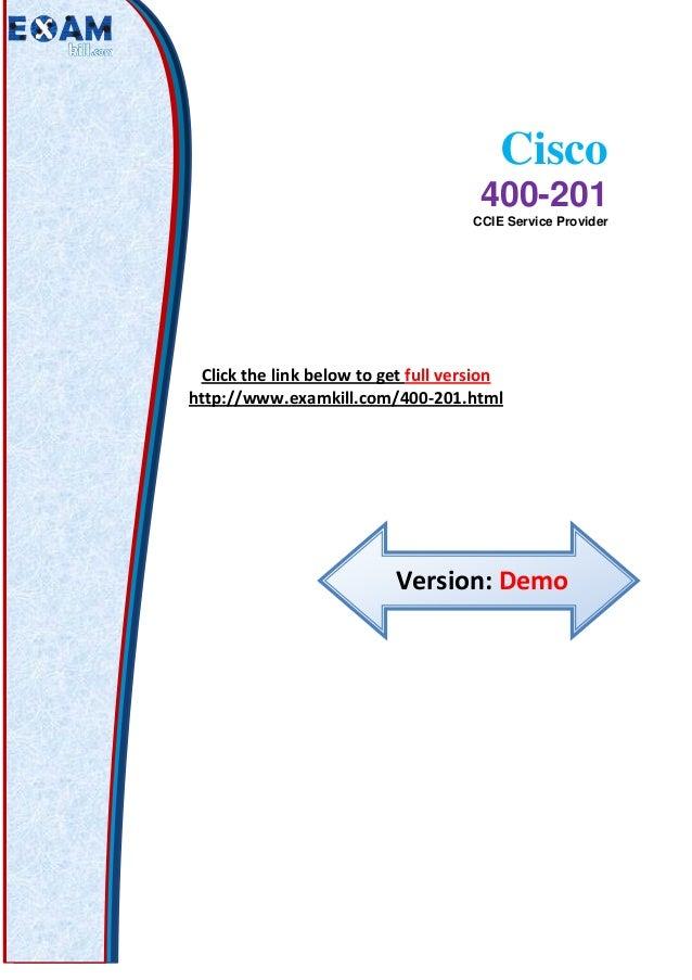 Cisco 400-201 PDF Questions Answers