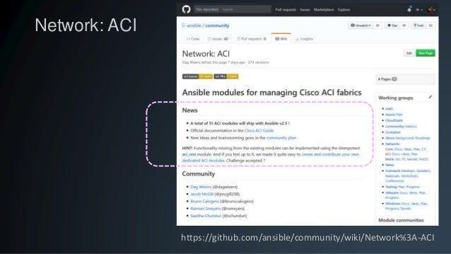 Automating Cisco Application Centric Infrastructure (ACI) using Ansib…