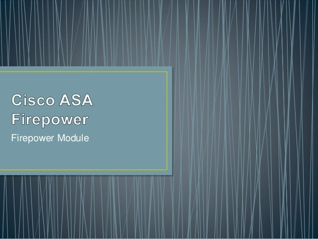 Cisco ASA Firepower