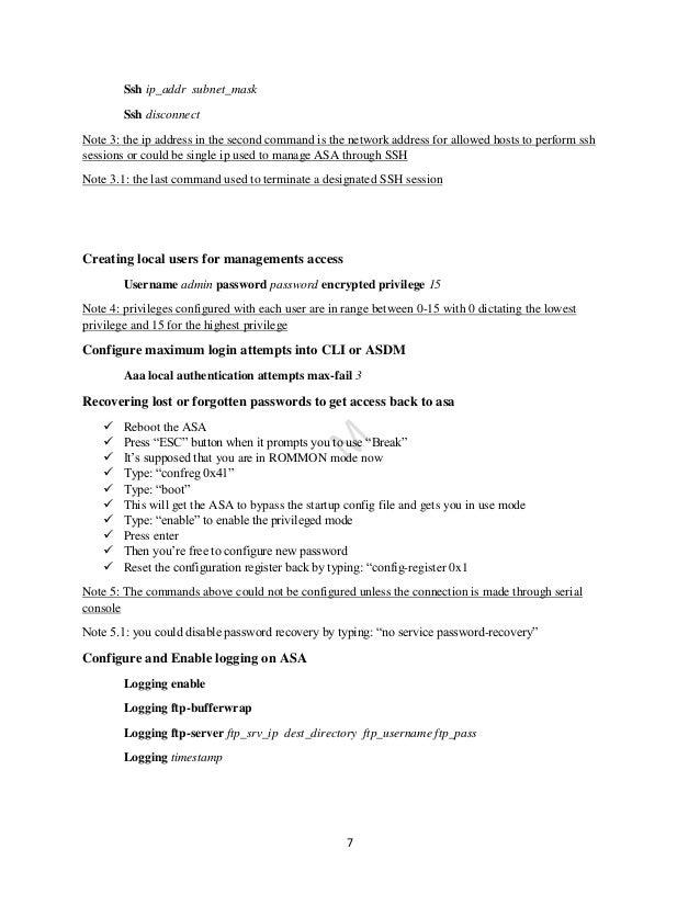 Cisco asa firewall command line technical guide