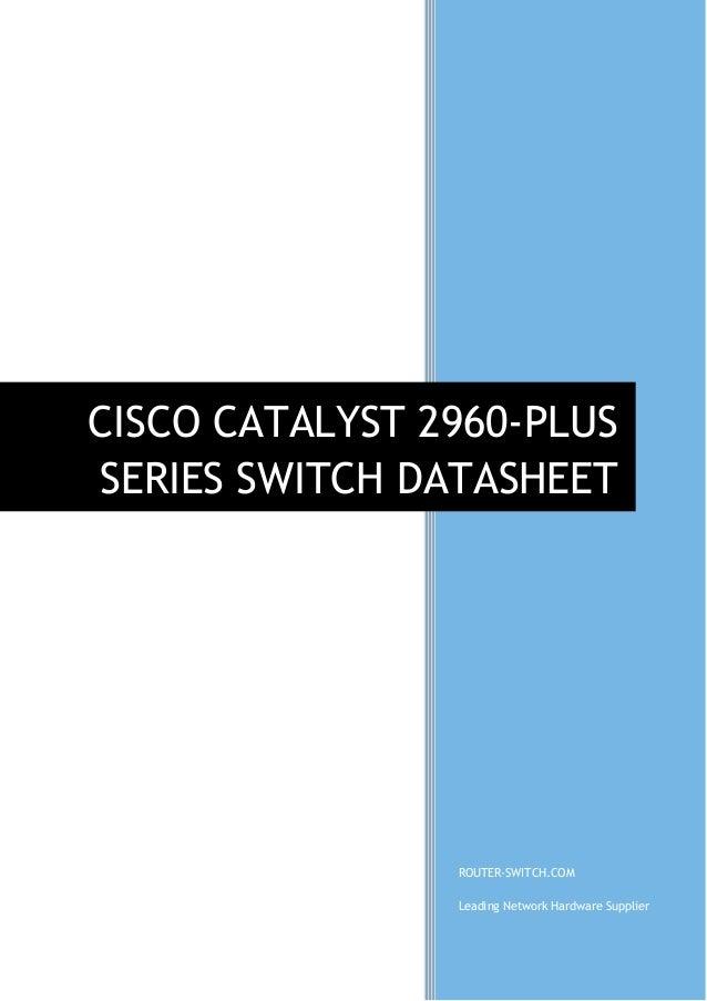 Cisco catalyst 2960s-48lps-l switch cisco.